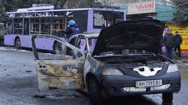 Последствия теракта в Донецке