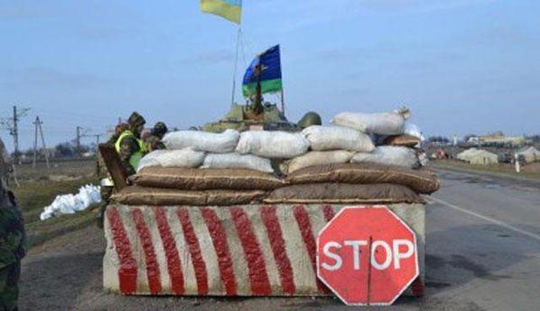 В селе Виноградное под Мариуполем снаряды боевиков попали в блокпост
