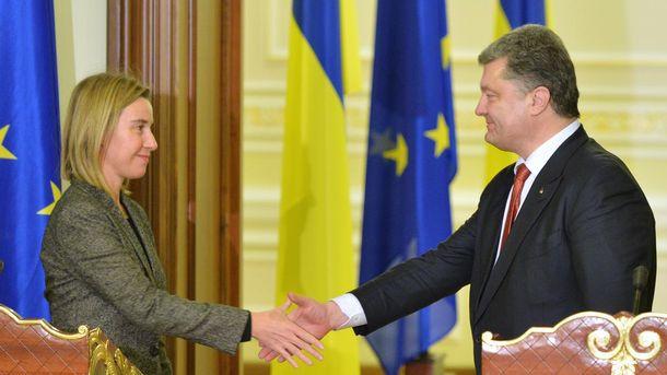 Ф. Могеріні і П. Порошенко