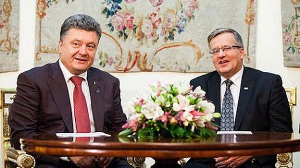 Петр Порошенко и Бронислав Коморовский
