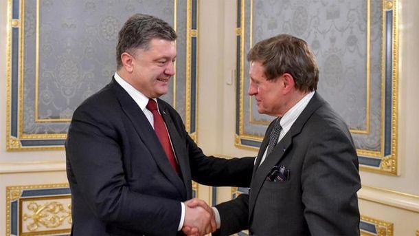 П. Порошенко и Л. Бальцерович