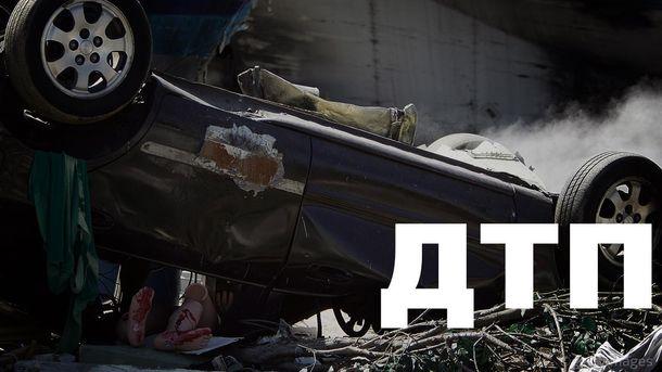 В центре Киева произошла авария с участием БТР