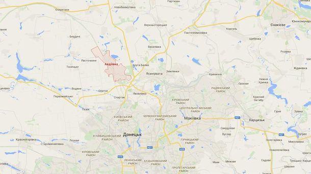 Авдіївка на мапі