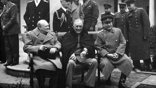 Черчилль, Рузвельт, Сталин