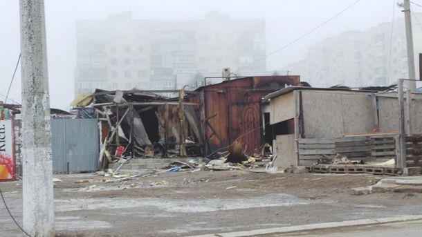 Мариуполь после предварительного обстрела