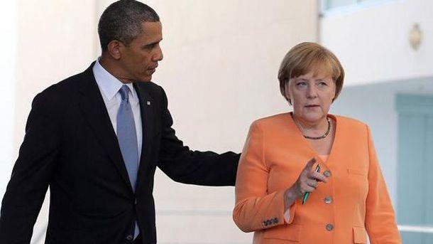 Барак Обама и Ангела Меркель