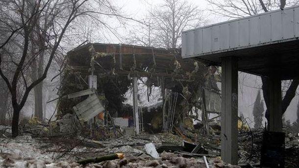 Разрушения на востоке Украины