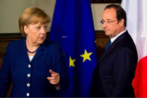 А. Меркель и Ф. Олланд