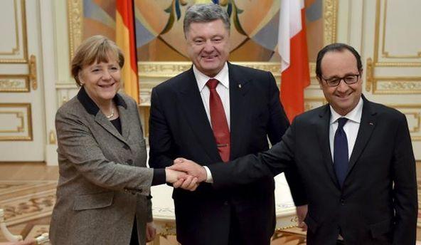Меркель, Порошенко і Олланд
