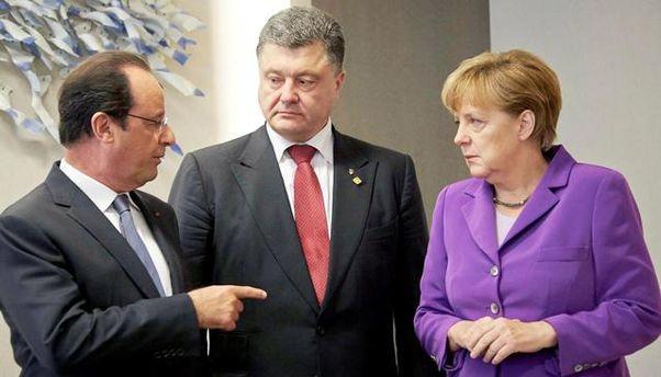 Олланд, Порошенко и Меркель