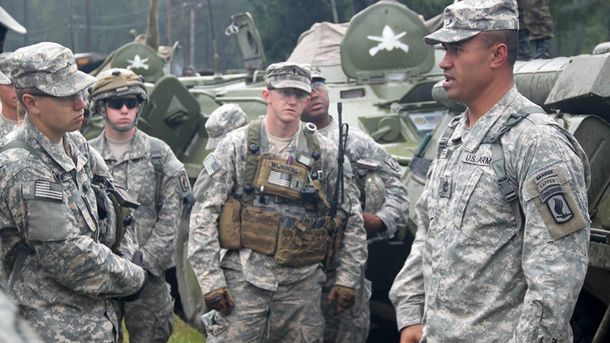 Американские военные на учениях в Украине