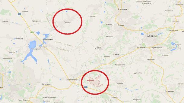Чорнухине і Троїцьке на мапі