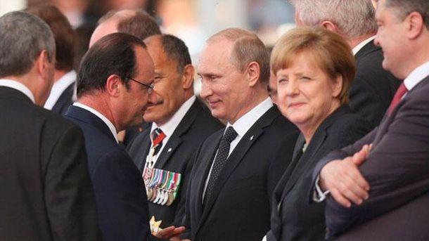 Олланд, Путін, Меркель та Порошенко