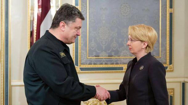 П. Порошенко і І. Мурніеце