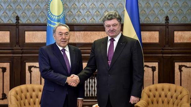 Нурсултан Назарбаєв і Петро Порошенко