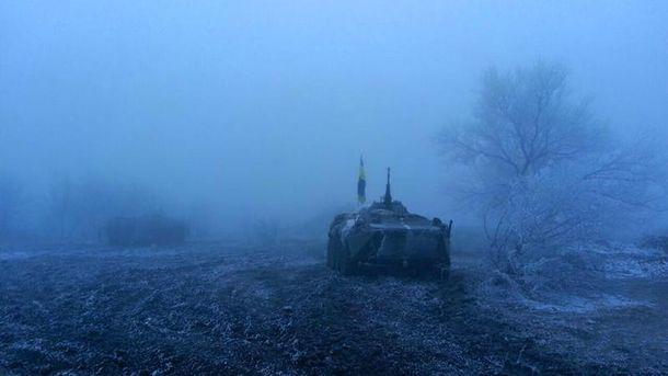 Позиции украинских военных