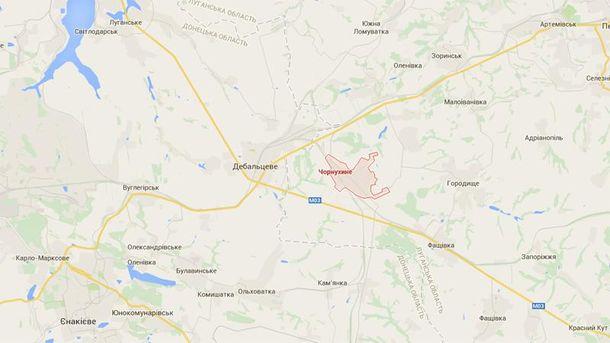 Чорнухине на мапі