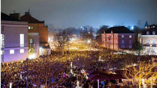 Около 30 тысяч человек почтили жертв нападений в Копенгагене