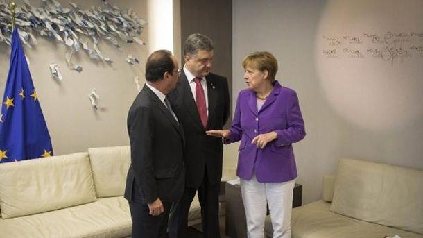 Порошенко, Меркель і Олланд