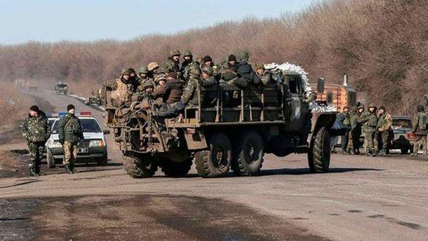 Выход военных из Дебальцева