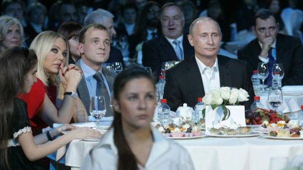 Орнелла Мути и Владимир Путин