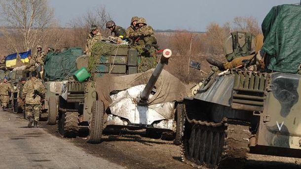 Відведення української артилерії