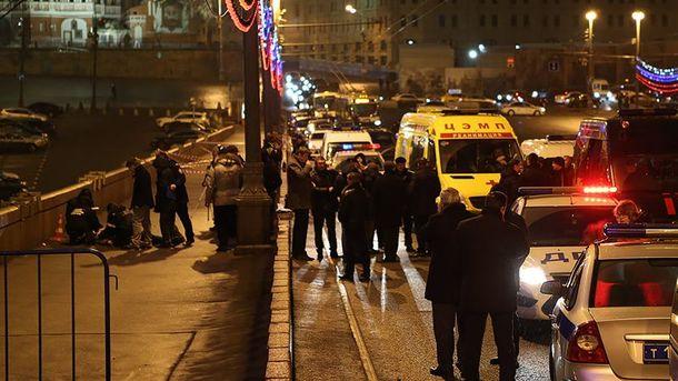 На місці вбивства Нємцова