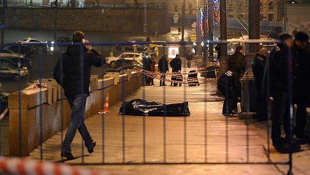 Место убийства Немцова