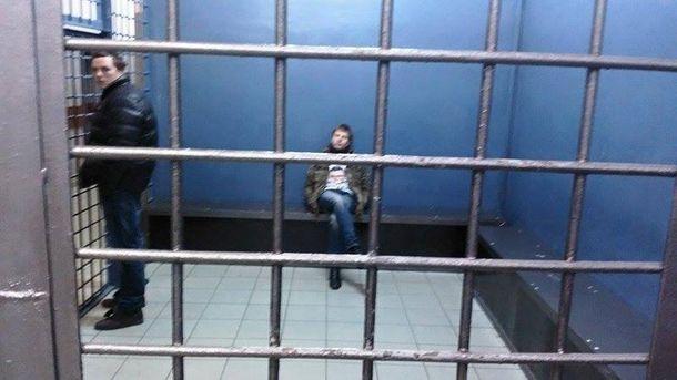 А. Гончаренко в отделении полиции