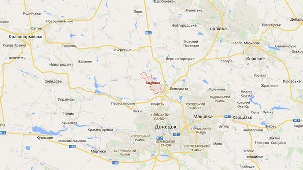 Авдеевка на карте