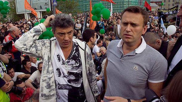 Борис Нємцов і Олексій Навальний