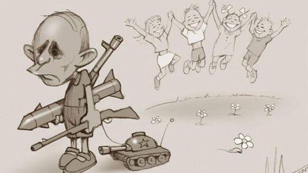 Карикатура на Путина