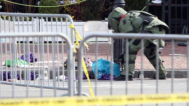 На месте взрыва в Бостоне