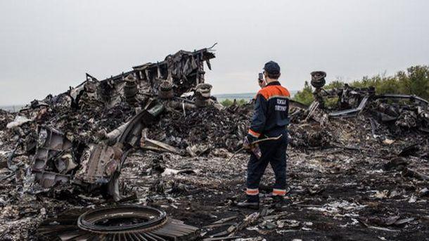 На месте падения Boeing-777