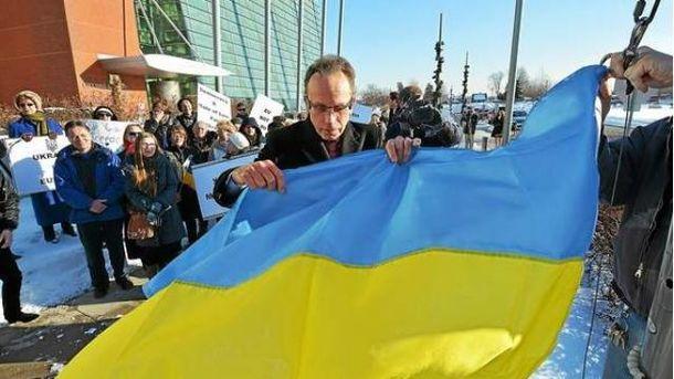 Город Уоррен на месяц поднял украинский флаг