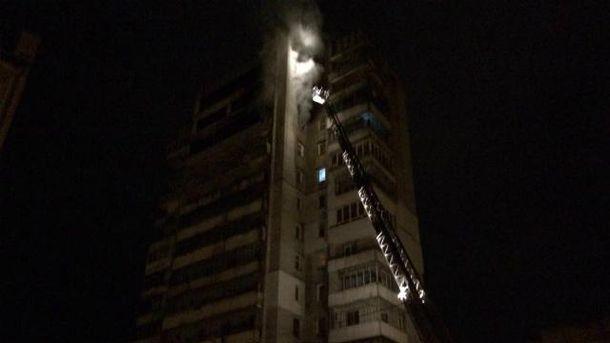 Во Львове горела многоэтажка