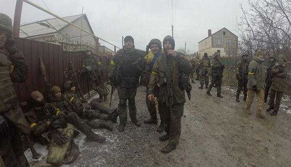 Украинские военные под Широкино