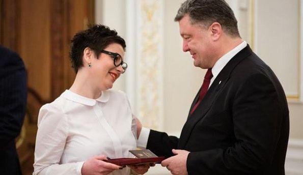 Ирина Земляная и Петр Порошенко