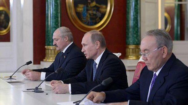 Путін, Назарбаєв і Лукашенко