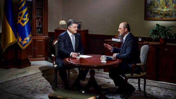 П. Порошенко дает интервью