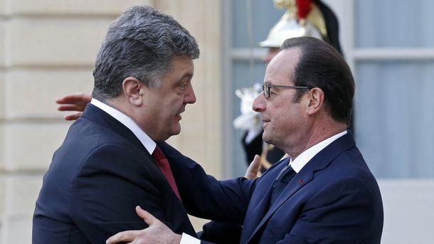 П. Порошенко і Ф. Олланд
