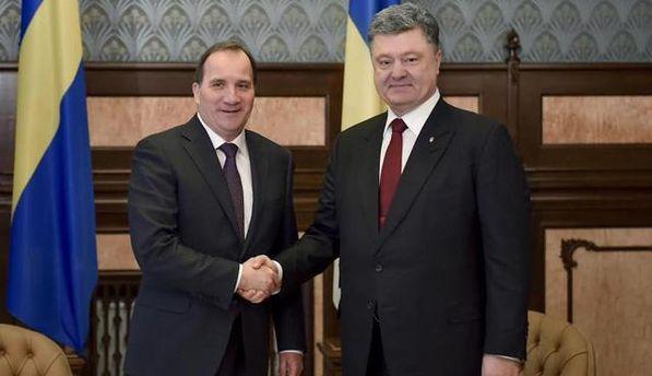 Стефан Левен и Петр Порошенко