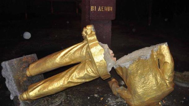 На Запоріжжі знесли 4 пам'ятники Леніну