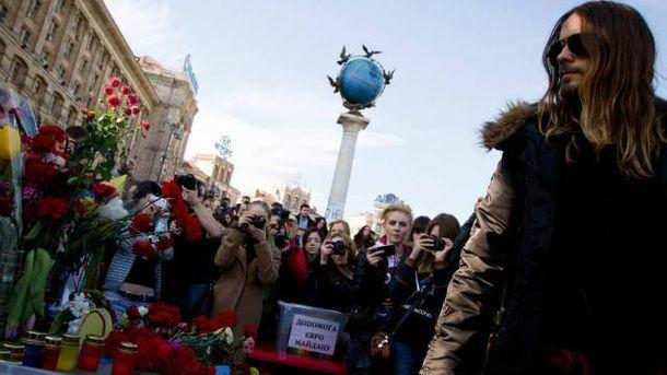 Джаред Лето на Майдані у Києві