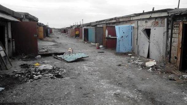 Гаражі у Донецьку, район Путилівського мосту