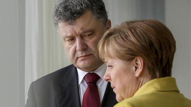Петро Порошенко и Ангела Меркель