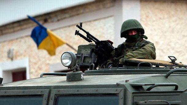 Российский военный в Крыму
