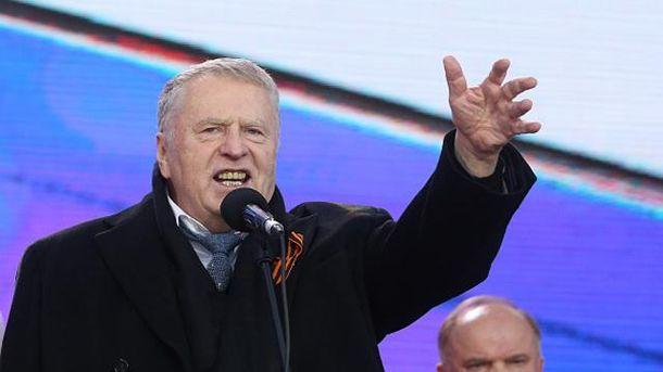 Владимир Жириновский во время празднования аннексии Крыма