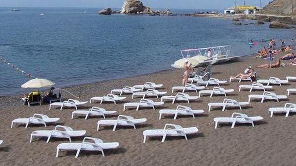 Пустий пляж в Криму