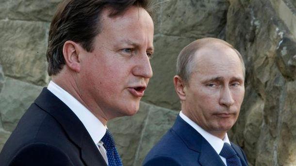 Дэвид Камерон и Владимир Путин